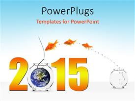 PPT theme featuring the new year celebration with bluish background