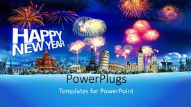 Beautiful slide deck with 3D raphics of lots of fireworks and text that spells out the words