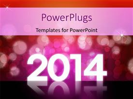 PPT layouts featuring new year depiction with abstract background and year 2014