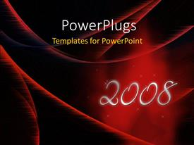 Theme featuring new year depiction with new year text on abstract red surface