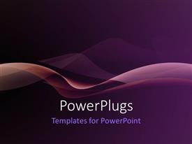 Audience pleasing PPT theme featuring nice smooth waves with purple color
