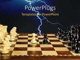PPT theme consisting of a number of chess pieces on the chess board