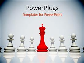 PPT layouts enhanced with a number of chess pieces with white background