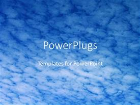 Beautiful PPT theme with a number of clouds in the background with the place for text