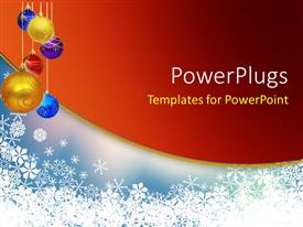 Colorful PPT layouts having a number of colorful balls with reddish background