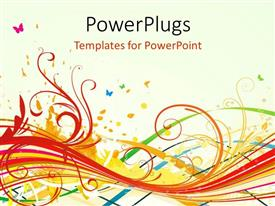 PPT layouts featuring a number of colors with white background