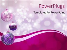 Amazing PPT theme consisting of a number of decorated balls with lights in background