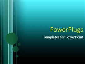 Presentation theme enhanced with a number of dots with bluish background