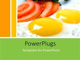 PPT layouts consisting of a number of eggs with tomatoes and yellowish background