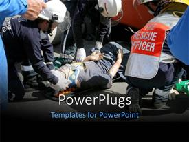 Amazing presentation theme consisting of a number of emergency workers helping the people