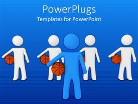 PPT layouts featuring a number of figures with basketballs