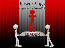 Colorful PPT theme having a number of figures with one leading them