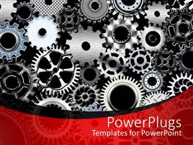 Amazing theme consisting of a number of gears with place for text