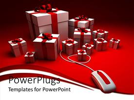 5000 online shopping powerpoint templates w online shopping themed amazing slide deck consisting of a number of gift hampers with a mouse template size toneelgroepblik Choice Image