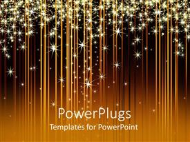Elegant presentation enhanced with a number of glowing stars with brownish background