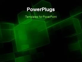 Elegant PPT theme enhanced with a number of greenish cubes in the background