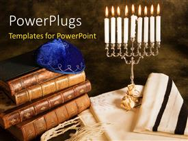 5000 judaism powerpoint templates w judaism themed backgrounds beautiful presentation design with a number of holy books with candles template size toneelgroepblik Image collections