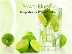 Amazing PPT layouts consisting of a number of lemons with  glass of lemonade