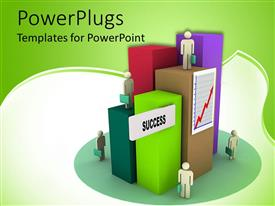 Elegant PPT layouts enhanced with a number of people on different places
