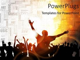 Elegant PPT theme enhanced with a number of people enjoying together