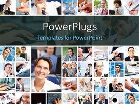 Amazing presentation theme consisting of a number of pictures with various people in them