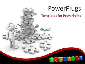 Amazing presentation theme consisting of a number of puzzle pieces and white background