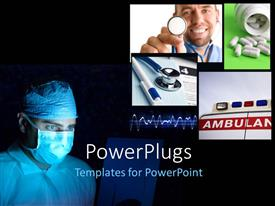 PPT layouts consisting of a number of surgeons with blackish background