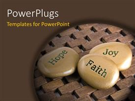 PPT layouts having a number of zen stones with wooden background
