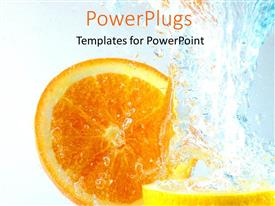 Elegant PPT layouts enhanced with orange and Lemon slices in water splash