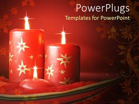 Colorful PPT theme having a pair of candles burning together