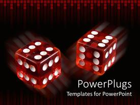 PPT layouts enhanced with pair loaded dice with six on every side