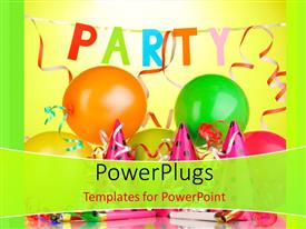 5000 party powerpoint templates w party themed backgrounds beautiful slide deck with party theme having balloons with lights and colors template size toneelgroepblik Image collections