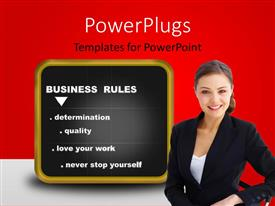 PPT layouts enhanced with a person with a blackboard in the background