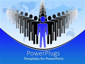 Elegant PPT theme enhanced with a person leading a group of people