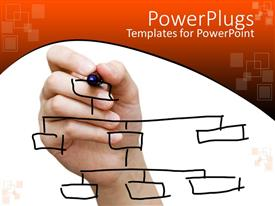 PowerPlugs: PowerPoint template with a person making notes for a business