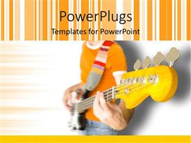 Beautiful PPT theme with a person playing the guitar with multicolor background