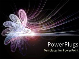 Colorful presentation design having pink and purple energy as conceptual abstract on space background