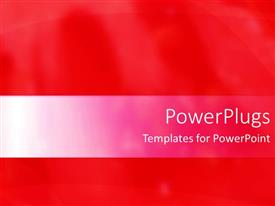 Elegant PPT theme enhanced with a plain bright red background with some blurry lines