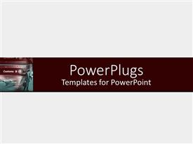 Beautiful PPT theme with a plain clear white background tile with a person holding a briefcase