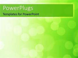 Colorful presentation having a plain green and white surface tile with blurry lights