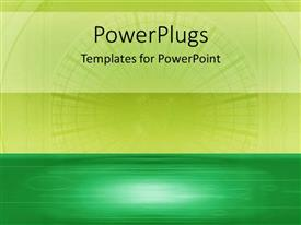 PPT theme having a plainlemon greenand deep green colored background
