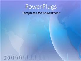 Amazing PPT theme consisting of a plain light blue abstract background of a world map
