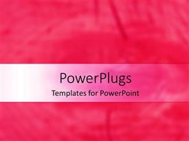 Audience pleasing presentation design featuring a plain pink and white background surface with some images