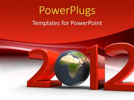 Elegant PPT theme enhanced with a red colored text that spells out the word