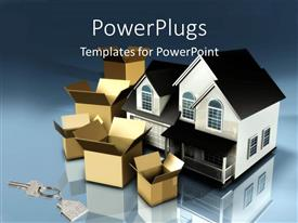 Amazing PPT layouts consisting of planning to move houses moving boxes new keys mortgage financial plans stress