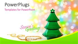 Audience pleasing presentation theme featuring a close up view of a green colored jelly Christmas tree