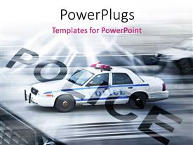 PPT layouts enhanced with police cars running on the streets of New York with motion blur
