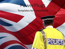 PPT layouts enhanced with a policeman with british flag in the background