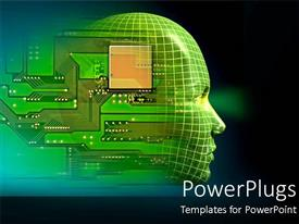 5000 robot powerpoint templates w robot themed backgrounds beautiful presentation with printed circuit board embedded in human head depicting robotics toneelgroepblik Choice Image
