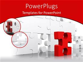 Slides enhanced with problem solving metaphor with red puzzle piece and white jigsaw puzzle